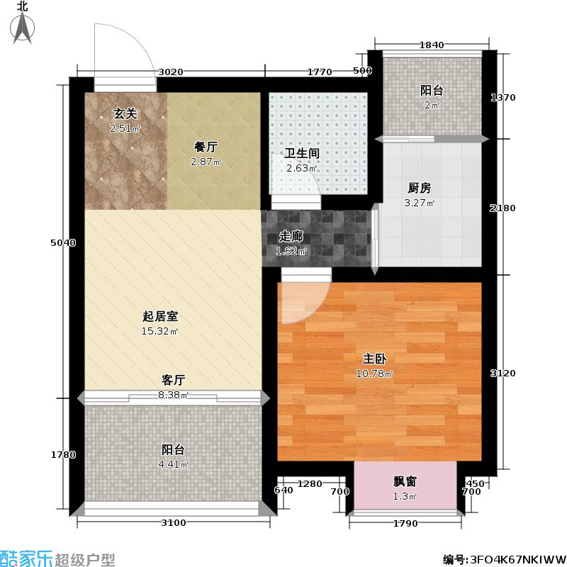 天顺御和苑45.00㎡天顺御和苑户型图一房一厅一卫-45平方米-38套(1/3张)户型10室