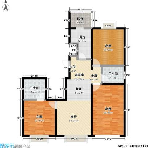 11station3室0厅2卫1厨121.00㎡户型图