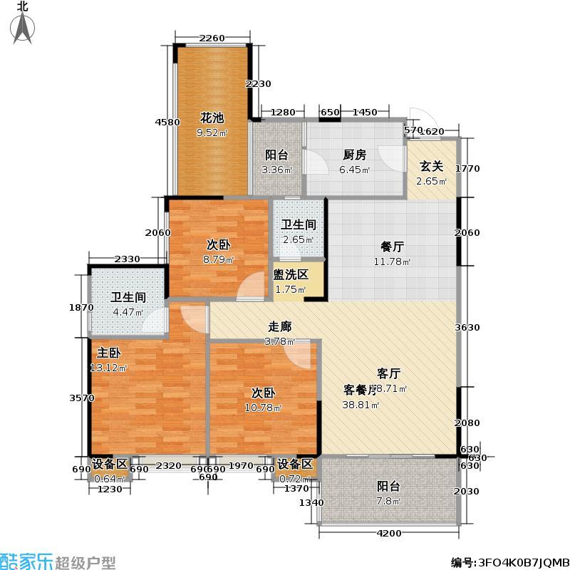 泽京・普罗旺斯115.20㎡一期15号楼A户型