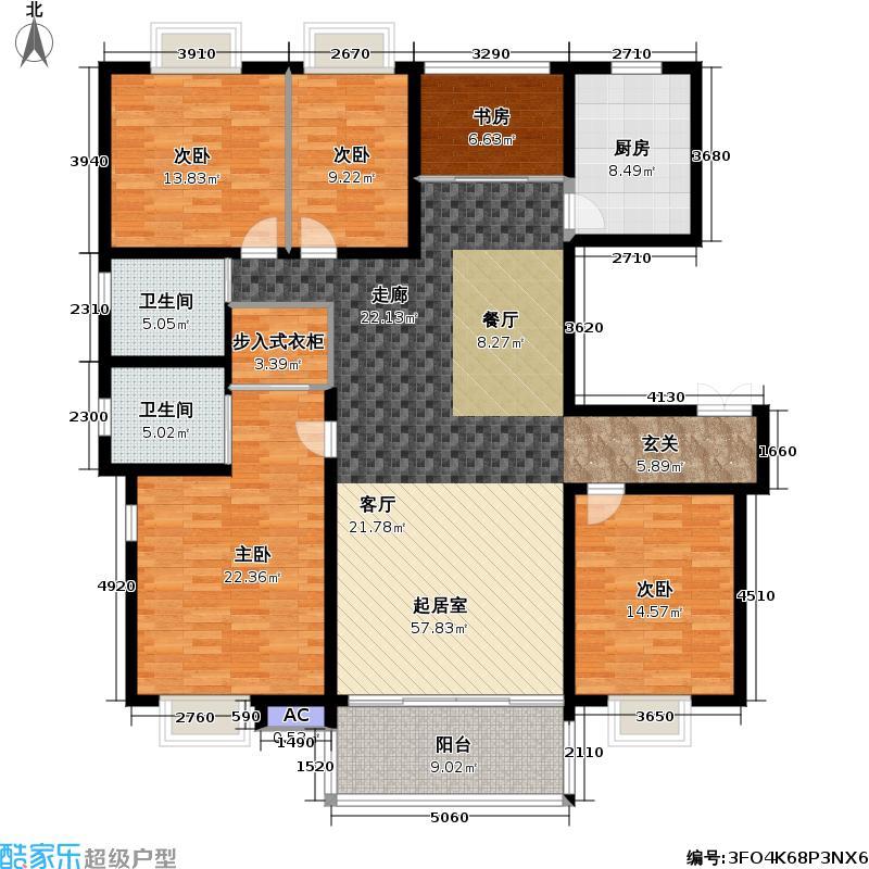 天顺御和苑175.00㎡天顺御和苑户型图四房二厅二卫-175平方米-13套(1/2张)户型10室