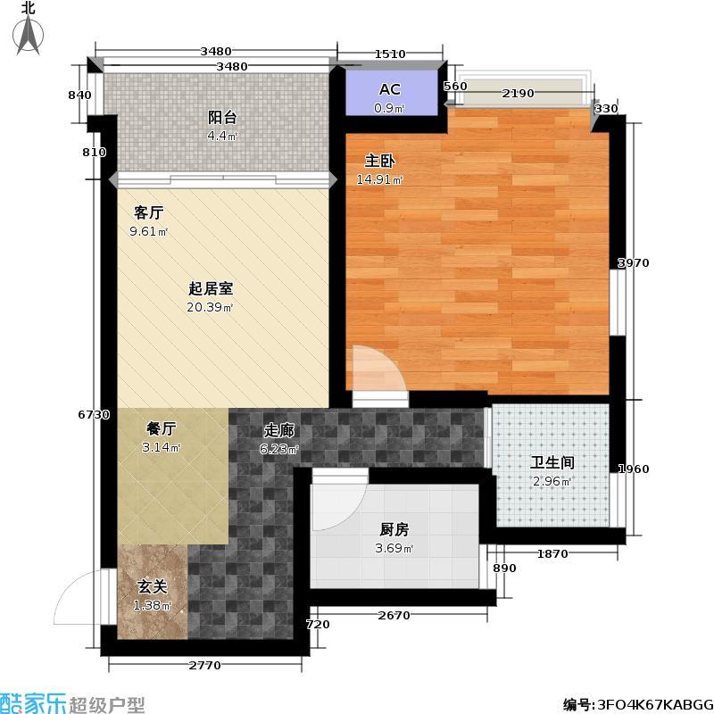天顺御和苑55.00㎡天顺御和苑户型图一房一厅一卫-55平方米-19套(2/3张)户型10室