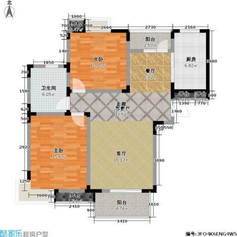 星胜客2室1厅1卫1厨93.46㎡户型图