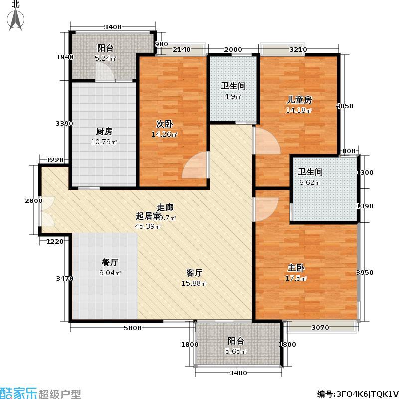 康桥半岛(五期)120.00㎡房型: 三房; 面积段: 120 -147 平方米;户型