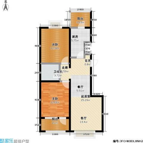 11station2室0厅1卫1厨93.00㎡户型图