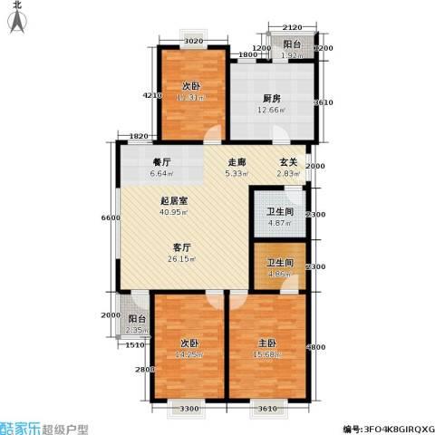 格瑞雅居3室0厅2卫1厨144.00㎡户型图