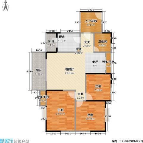 劲旅・丽景花园3室1厅1卫1厨112.00㎡户型图