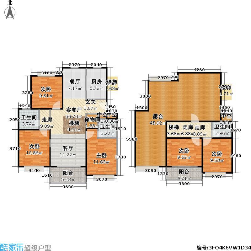 鑫鑫花园一期房型复式户型5室1厅3卫1厨