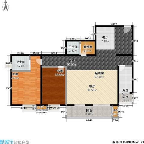 双花园小区2室0厅2卫1厨145.00㎡户型图