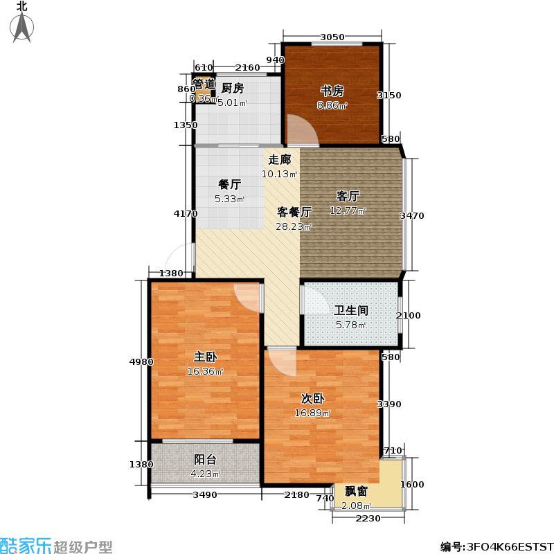 好享家92.00㎡好享家户型图三房二厅一卫-92平方米-144套(8/9张)户型10室