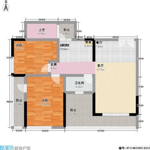 宗申・动力城 动力城2室0厅1卫0厨86.39㎡户型图