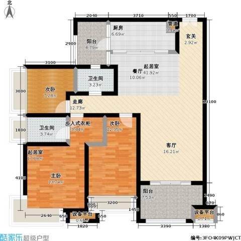 龙湖 悠山香庭 龙湖・悠山时光 悠山时光2室0厅2卫1厨155.00㎡户型图
