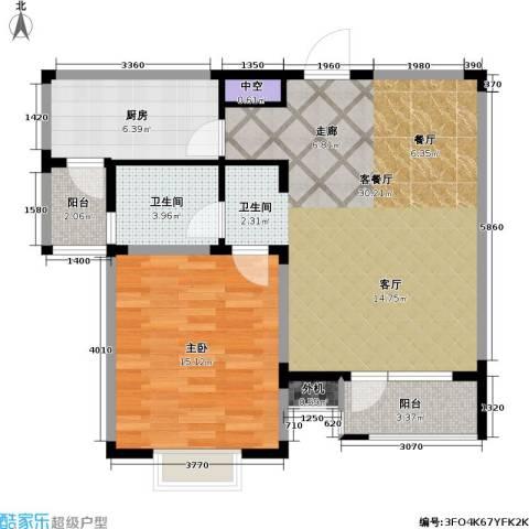 星胜客1室1厅1卫1厨69.88㎡户型图