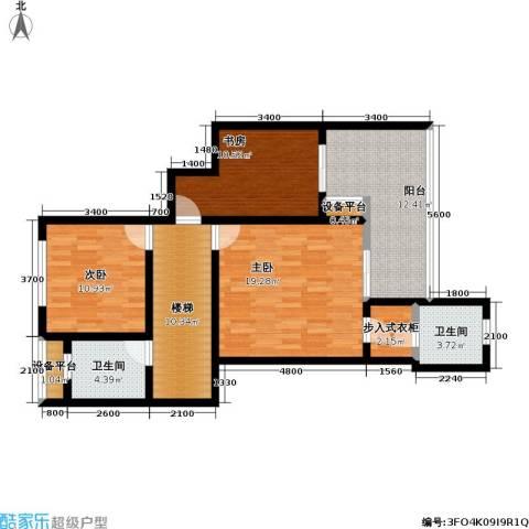 龙湖 悠山香庭 龙湖・悠山时光 悠山时光3室0厅2卫0厨111.00㎡户型图