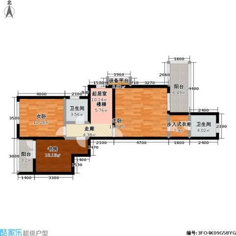 龙湖 悠山香庭 龙湖・悠山时光 悠山时光3室0厅2卫0厨107.00㎡户型图
