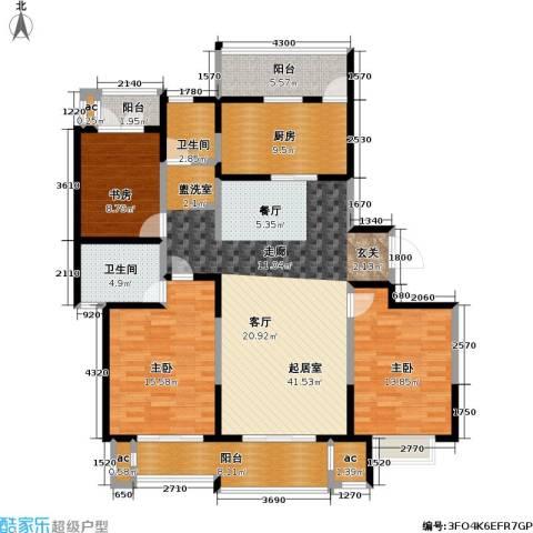 和风雅致3室0厅2卫1厨140.00㎡户型图