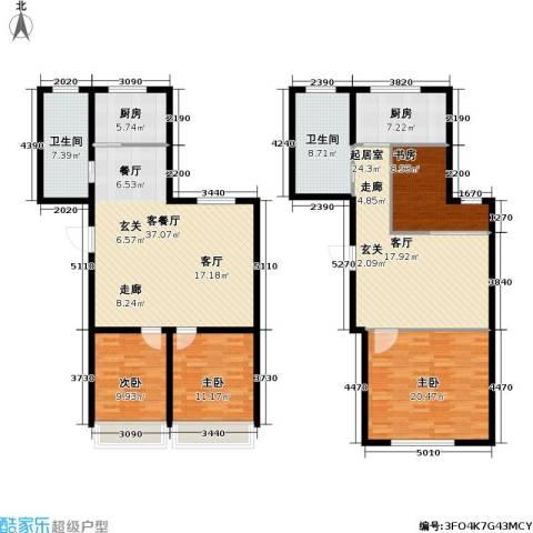 城仕晶舍4室1厅2卫2厨140.92㎡户型图