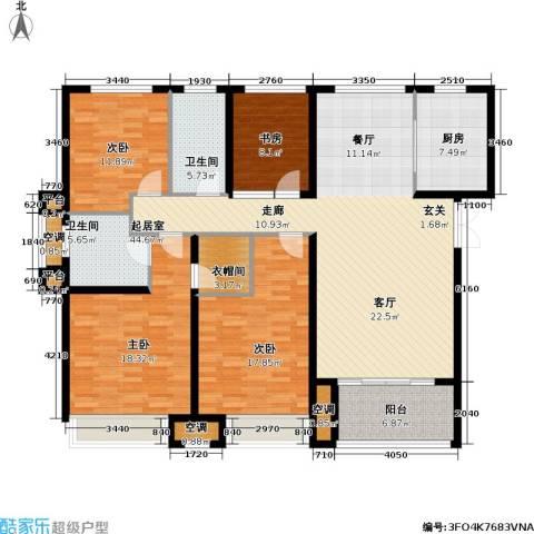 浙广首府4室0厅2卫1厨189.00㎡户型图