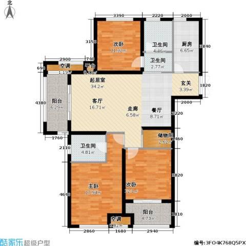 浙广首府3室0厅3卫1厨158.00㎡户型图
