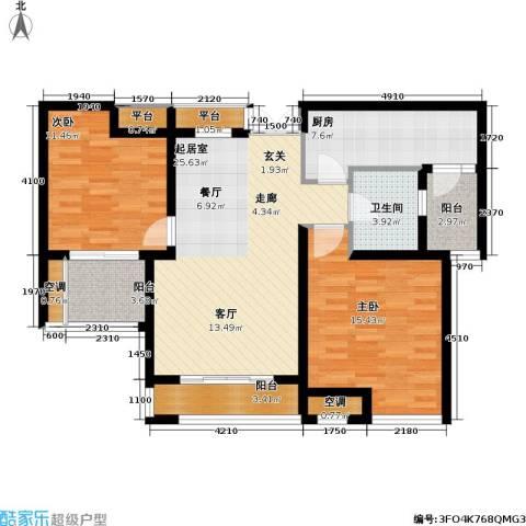 浙广首府2室0厅1卫1厨113.00㎡户型图