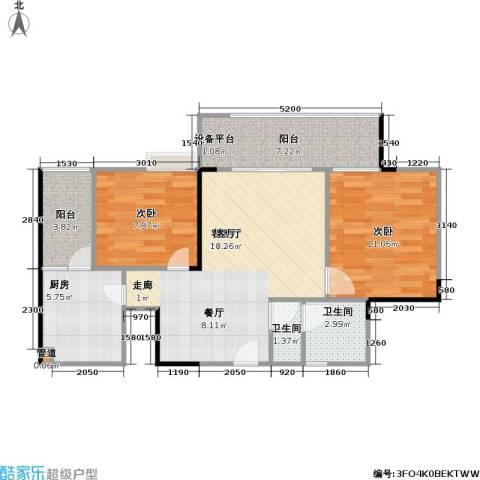劲旅・丽景花园2室1厅2卫1厨83.00㎡户型图
