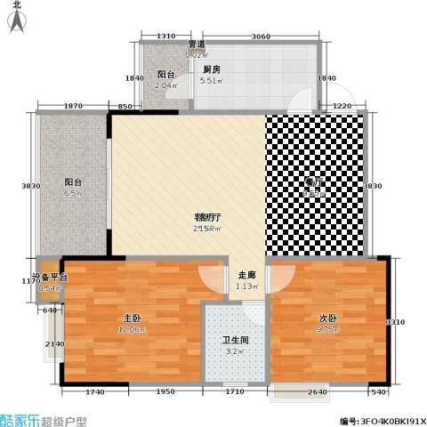 劲旅・丽景花园2室1厅1卫1厨88.00㎡户型图