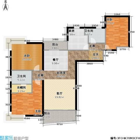 联洋年华3室0厅2卫1厨139.00㎡户型图
