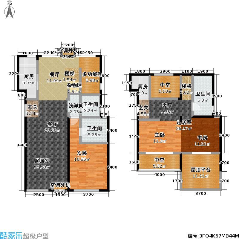 玺萌公馆153.32㎡玺萌公馆户型图A-Y1户型跃层(34/71张)户型10室