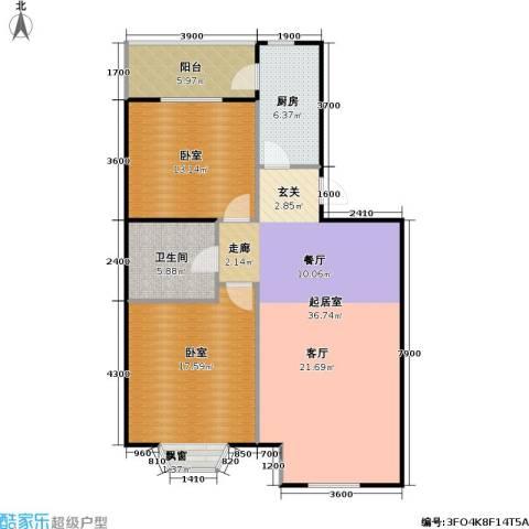 瑞海姆公寓1卫1厨95.00㎡户型图