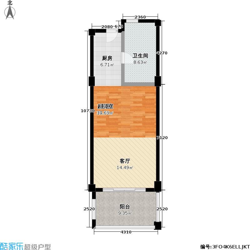 太湖黄金水岸62.00㎡A户型