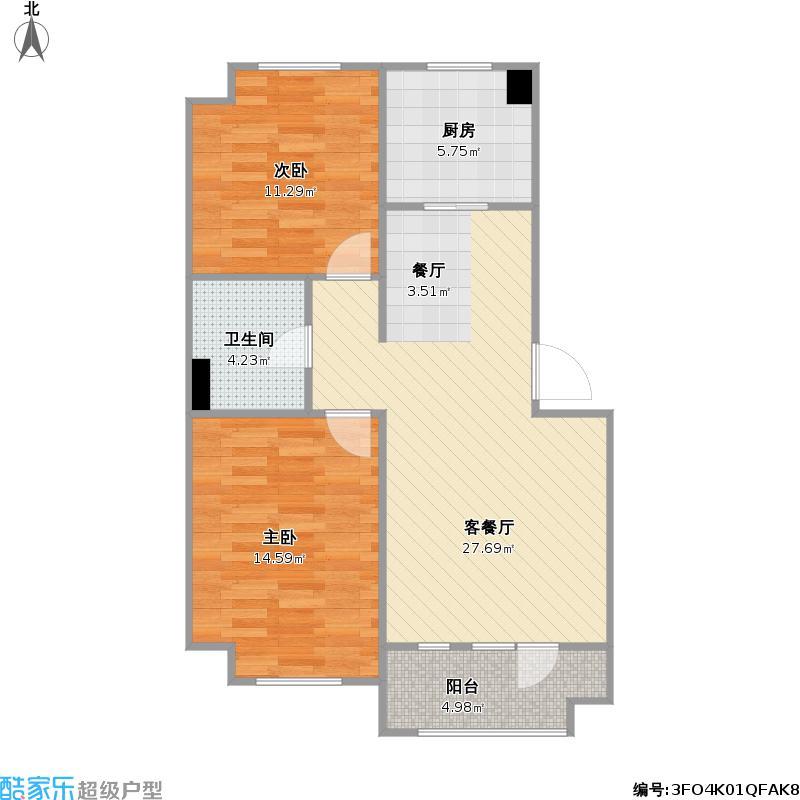 沈阳金地艺境28号楼84平+改后户型