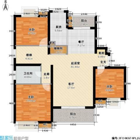 万源城御溪3室0厅1卫1厨220.00㎡户型图