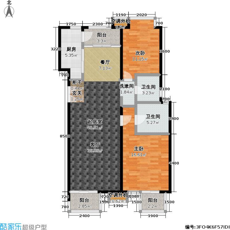 玺萌公馆117.77㎡玺萌公馆户型图A01户型二室二厅二卫(11/18张)户型10室