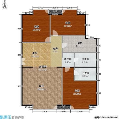 星源国际公寓3室0厅2卫1厨151.00㎡户型图