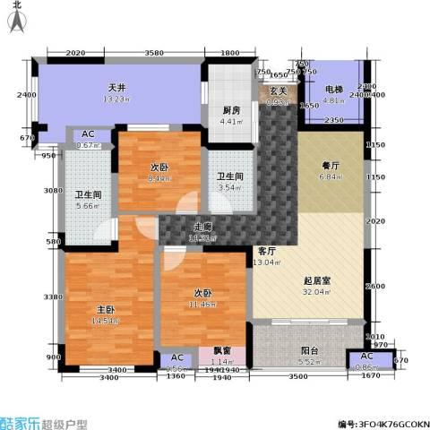 信远朗庭3室0厅2卫1厨100.93㎡户型图