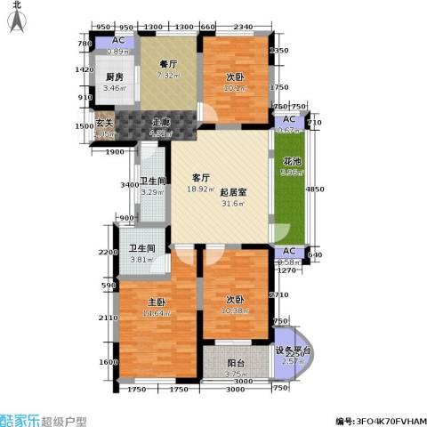 信远朗庭3室0厅2卫1厨91.70㎡户型图