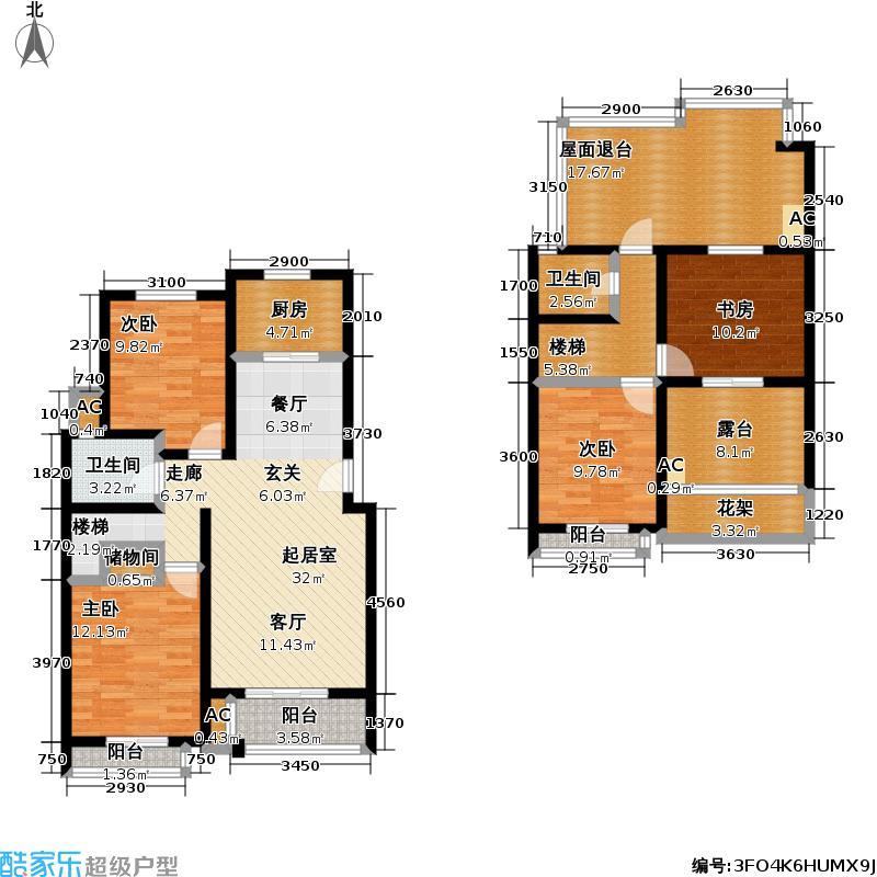 盛世豪庭F2户型3室2厅2卫-T