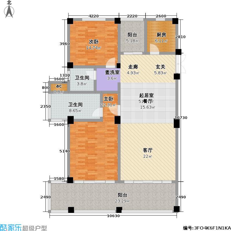 太湖黄金水岸156.00㎡B户型