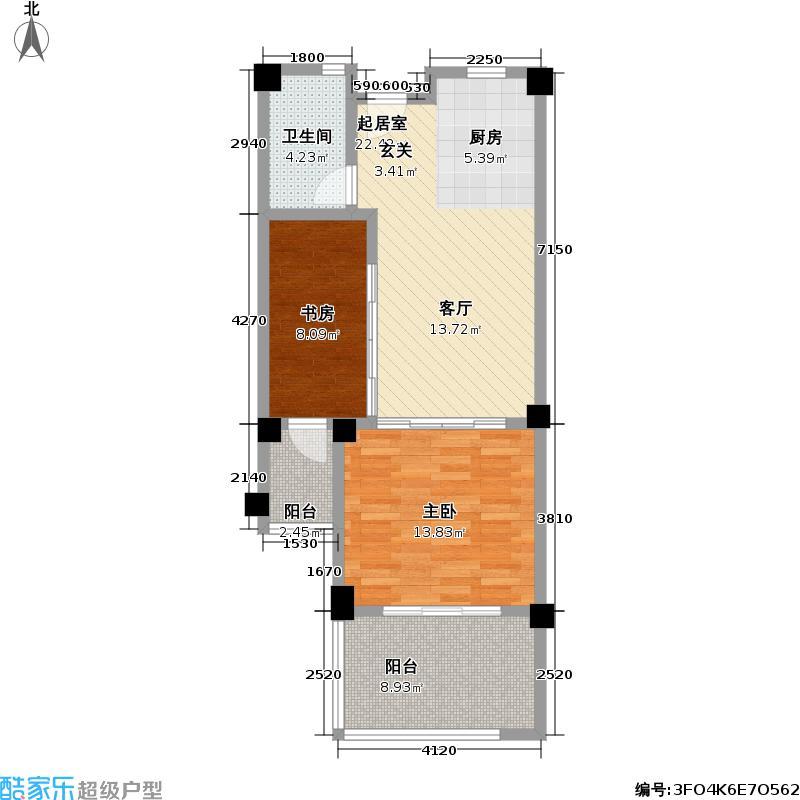 太湖黄金水岸70.00㎡G5户型2室1厅1卫