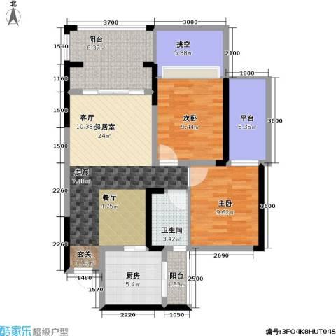 金科蚂蚁SOHO二代2室0厅1卫1厨106.00㎡户型图