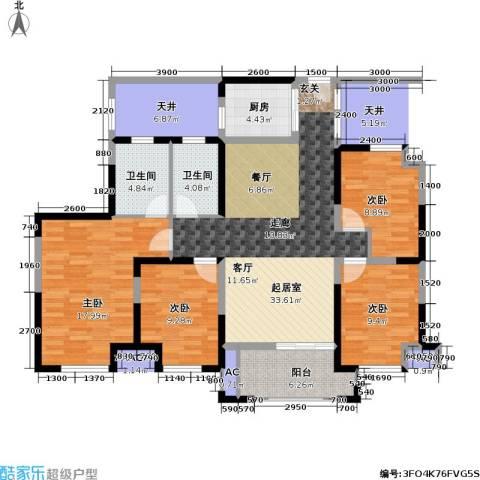 信远朗庭4室0厅2卫1厨107.00㎡户型图