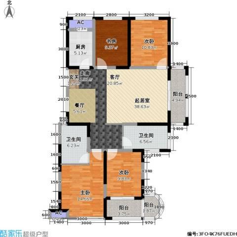 信远朗庭4室0厅2卫1厨116.00㎡户型图