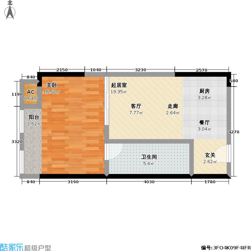 协信中心43.65㎡4号房户型-T