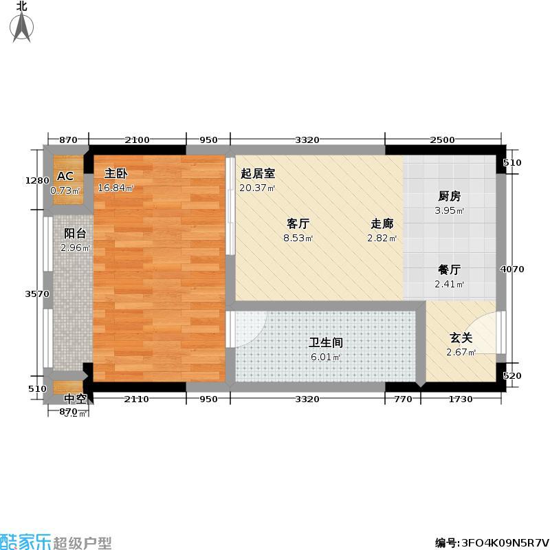 协信中心45.30㎡2581213号房户型-T
