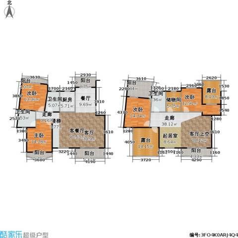 南国明珠4室1厅3卫1厨289.00㎡户型图