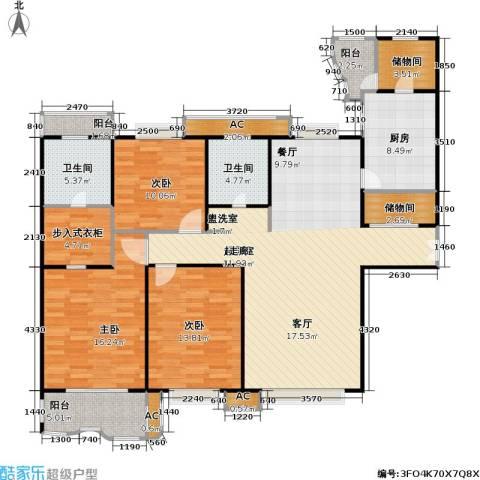 天际花园三期3室0厅2卫1厨134.00㎡户型图