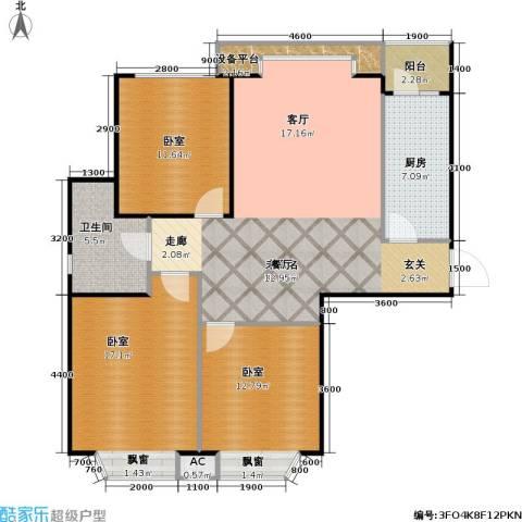 瑞海姆公寓1卫1厨105.00㎡户型图