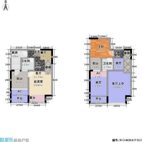 金科蚂蚁SOHO二代1室0厅2卫1厨133.00㎡户型图
