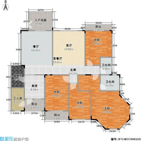 南国明珠4室1厅2卫1厨189.00㎡户型图