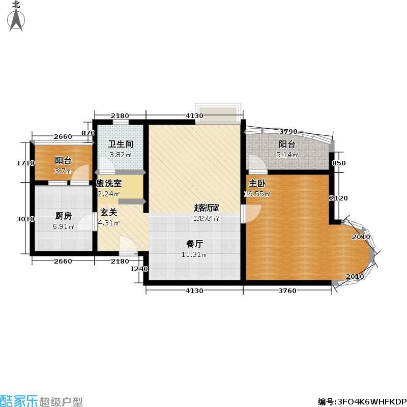 中远两湾城二期80.50㎡房型: 一房; 面积段: 80.5 -88.94 平方米;户型