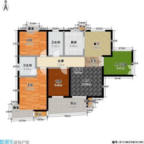 天隽峰3室0厅2卫1厨135.00㎡户型图